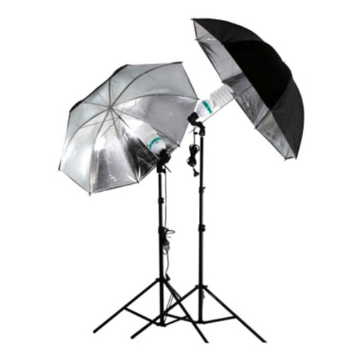 83cm Studio Flash Light Grained Black Silver Umbrella Reflective Reflector lk0 (Color: Black)