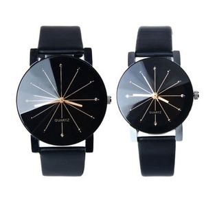 1PC Men and Women Quartz Dial Clock Leather Wrist Watch