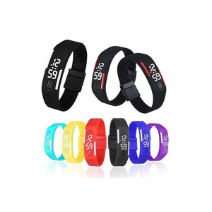 Mens Womens Rubber LED Watch Date Sports Bracelet Digital Wrist Watch watches Christmas Gifts