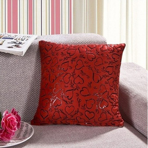 Red Heart Pattern Sofa Home Bed